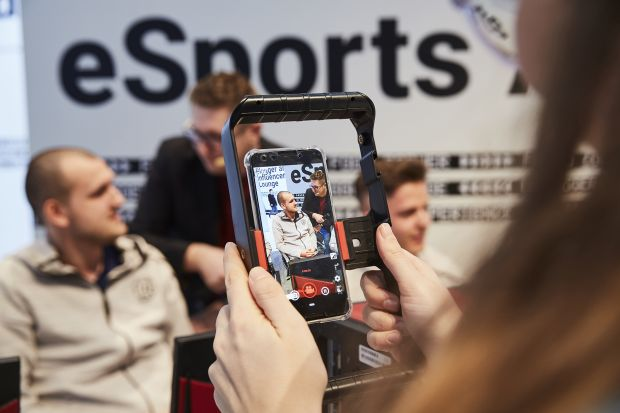 eSports arena in February at the ISPO Munich