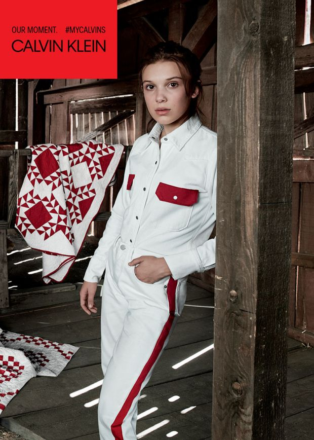 Young and famous: 14-year-old Millie Bobby Brown for Calvin Klein