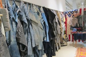 Vintage wall of BPD Denim Expo