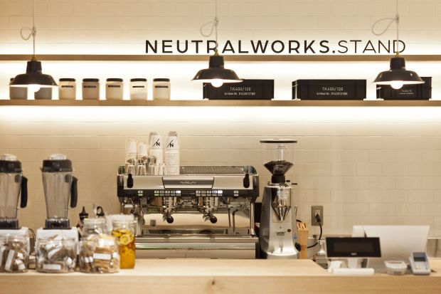Coffe bar at Neutralworks store in Tokyo
