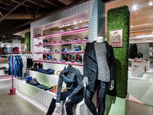Nike and Nordstrom created this special women's area in stores