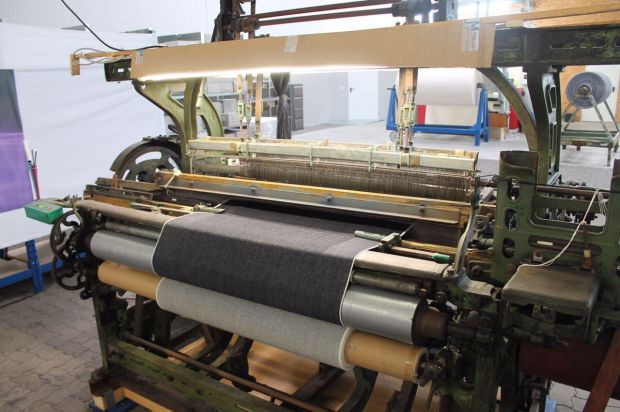 The denim is woven on this loom at Maiboom, Hamminkeln