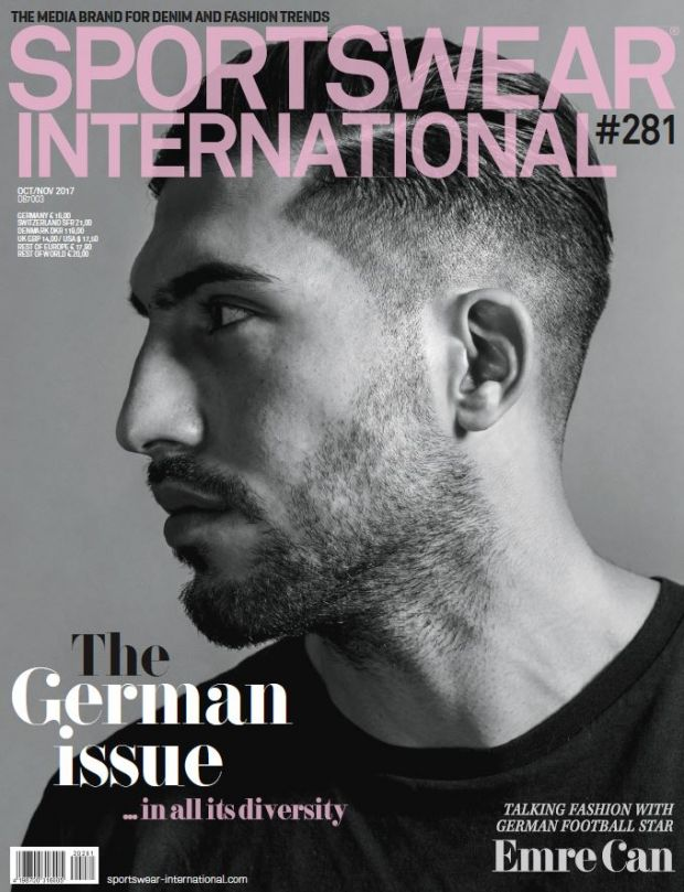 Emre Can on the cover of SPORTSWEAR INTERNATIONAL's German Issue from October '17