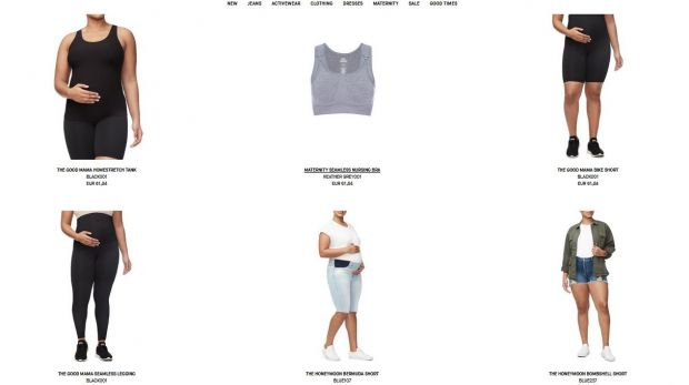 Screenshot of the Good American online shop