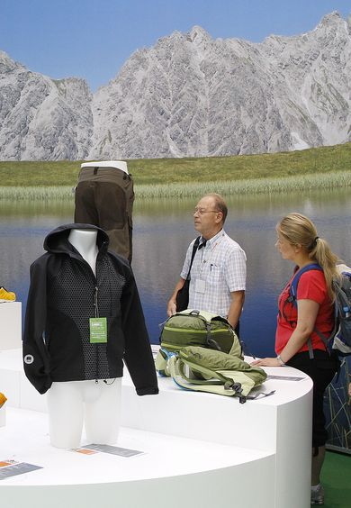 The OutDoor has a tradition in Friedrichshafen: Picture from OutDoor 2010