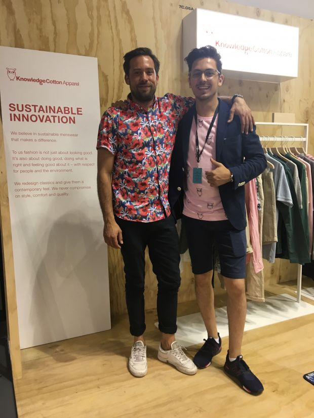 Nagim Ahmadshahi and Nils von Weissenfluh from Knowledge Cotton Apparel
