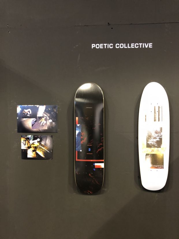 Skateboard decks by Poetic collective