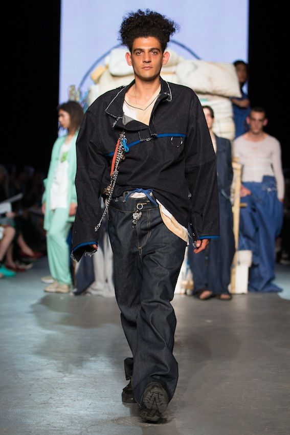 Denim outfit by Per Götesson, RCA graduate of 2016