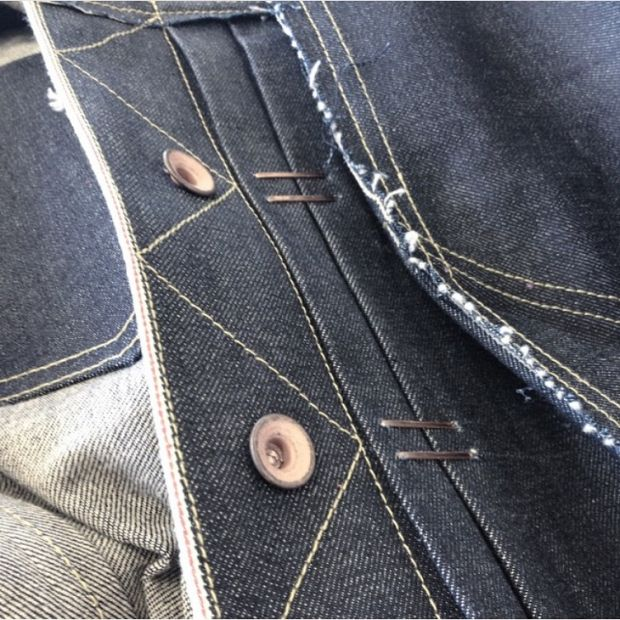 Staple-to-fit denim detail made with Kaihara denim by RCA alumna Hannah Jinkins