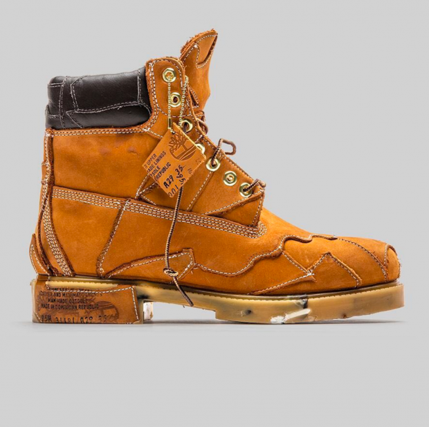 Concept: 06 boot, crafted from discarded leather scraps