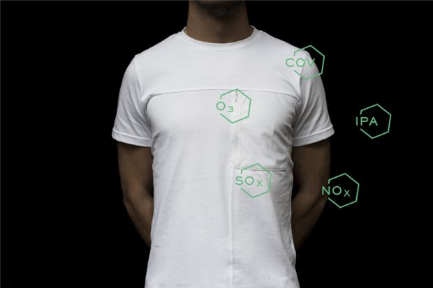 "This T-shirt incorporates a special insert made with ""The Breath"""