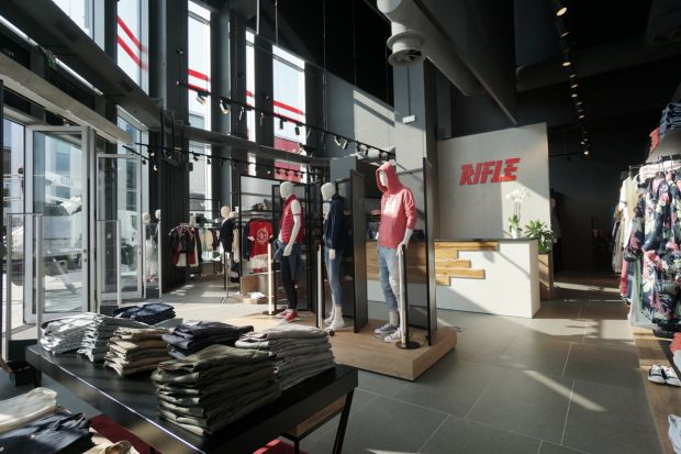Inside view of the Rifle store