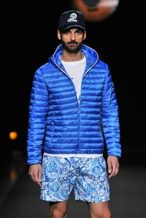 Save The Duck launched its new line of Ocean is My Home jackets