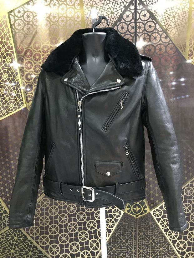 The leather jacket by Schott
