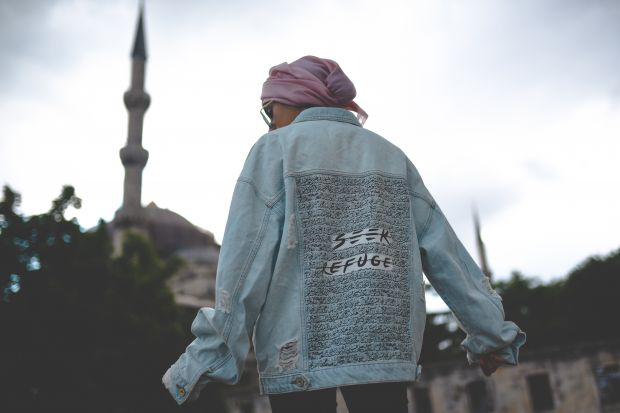 The oversize jean jacket has become the flagship item for Seek Refuge, says founder Shazia Ijaz.