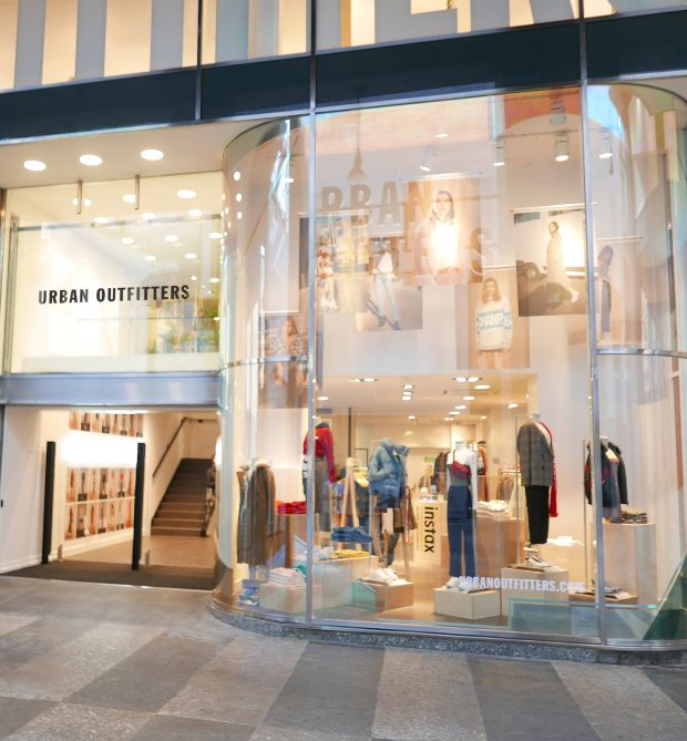 Store front of Urban Outfitter's new Milan outpost