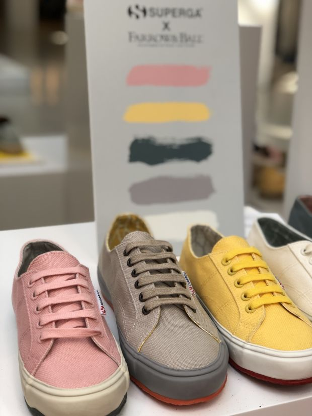 Superga's colorful collab with Farrow & Ball