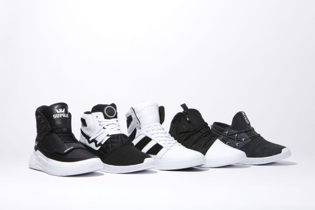 Black + White at Supra Footwear