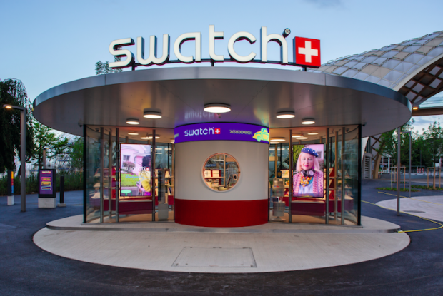 Swatch's drive-thru-store is located next to the headquarters in Biel