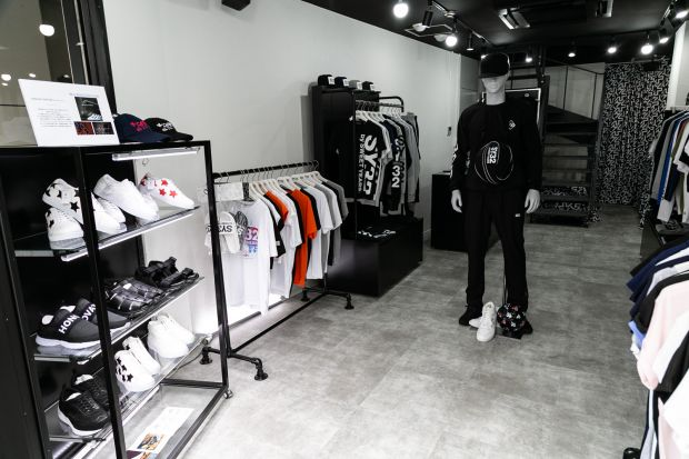 Inside view of the SY32 store in Tokyo