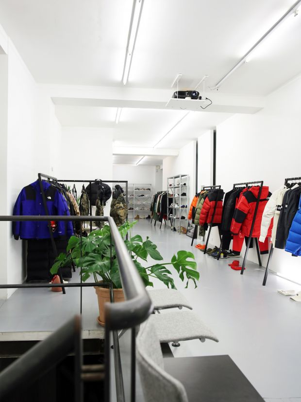 The North Face lifestyle product in the Rich & Hanc showroom