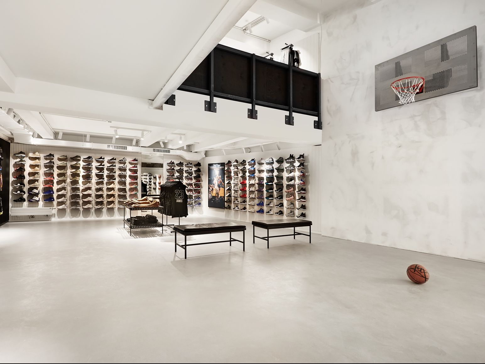 The heart of the store is obviously the basketball court