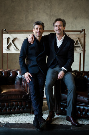 Patrick Dempsey (left) and Bruno Grande, co-founder of Ka/Noa