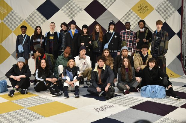 The full cast at Wood Wood's F/W'18 show in London