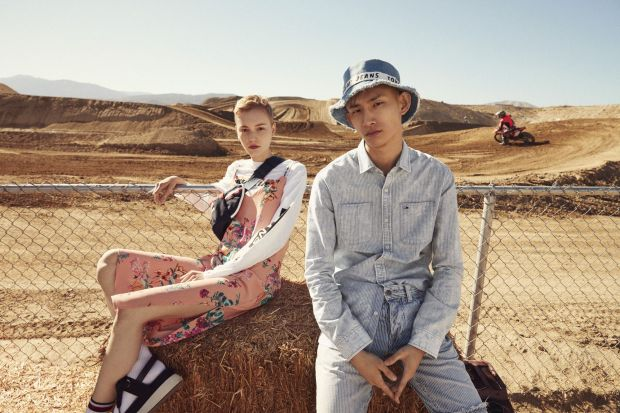 Lina Hoss and Sup Park for Tommy Jeans