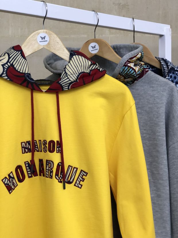 Hoodies by new label Maison Monarque