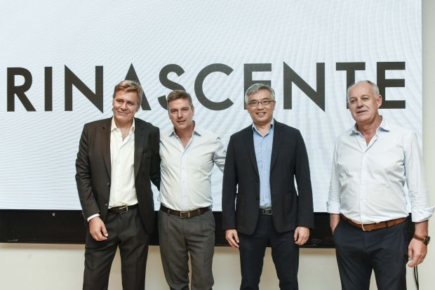 Rinascente management board (from left): Andrea Baffo, Pierluigi Cocchini, Tos Chirathivat and Vittorio Radice