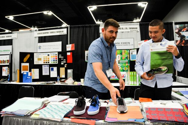 The Materials Show, a specialized trade fair in Portland offering components for the sneaker and sport-shoe industry will team up with Première Vision Sport.