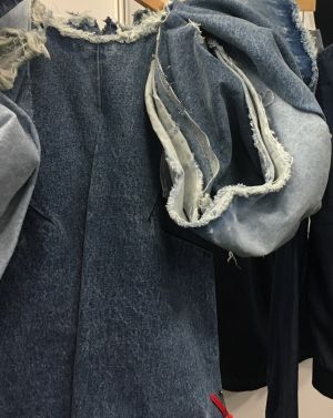 Denim creation spotted at Source Denim's last show in June 2018
