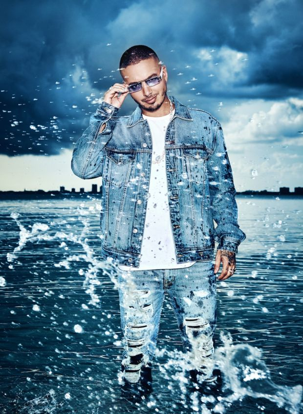 Singer and Grammy winner J Balvin for Guess