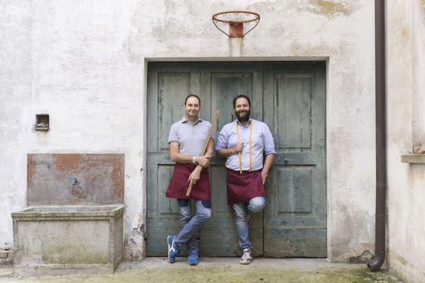 From left: Mario and Carlo Colombo, owners, Tessitura La Colombina
