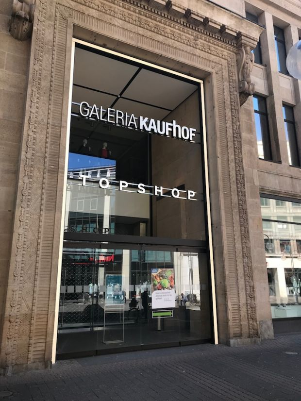 Department store chain Galeria Karstadt Kaufhof was forced to keep closed