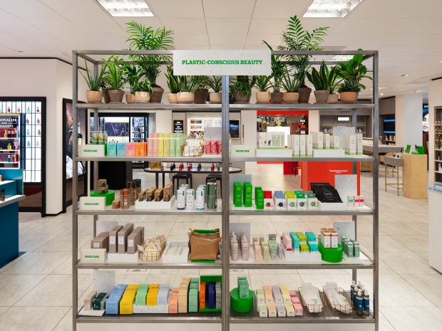 Plastic conscious beauty for Selfridges Project Earth