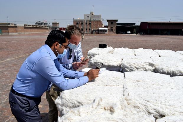 With a mobile app the cotton sowing, picking and shipment can be managed to track the lifecycle of cotton to the ginner.