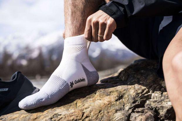Paper fiber socks by Goldwin