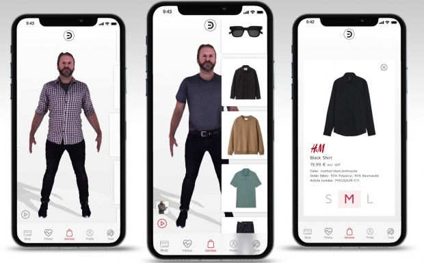 Digital fitting room by H&Mbeyond. ad NeXR
