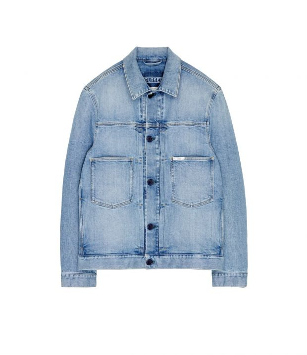 Closed jacket made of Coreva denim by Candiani