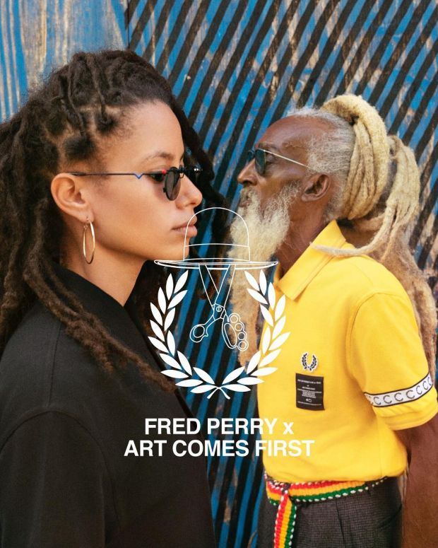 Campaign image of Art Comes First x Fred Perry collection