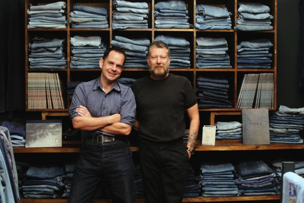 Douglas Gunn (l) and Roy Luckett of The Vintage Showroom in London