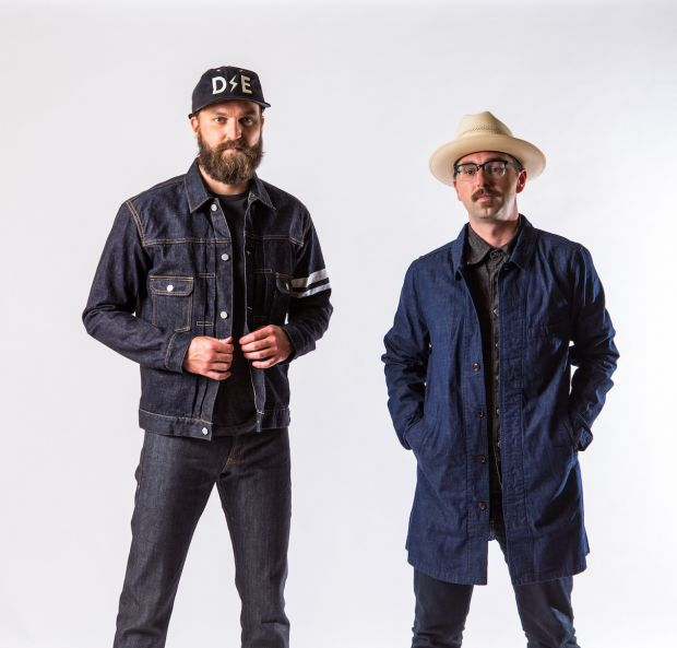 Deep Ellum Denim founders Jeff Kauffman (l.) and Bennie Reed