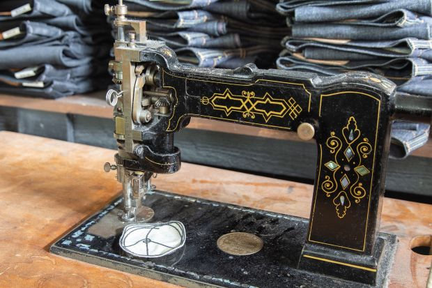 Sewing machine in the store