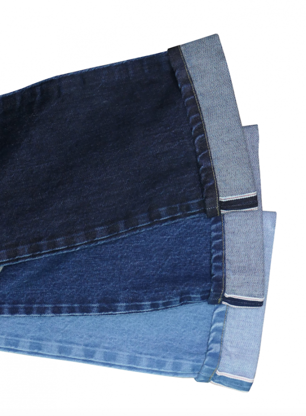Green Selvedge fabrics by House of Gold