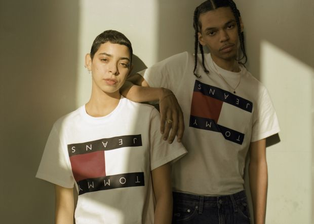 Models wear Tommy's Drop Shop 1.1 collection by Sportsbanger