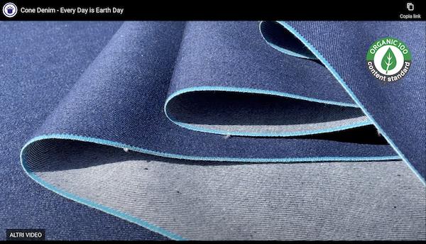 Cone Denim video presentation of its Blue Selvedge denim (screenshot)
