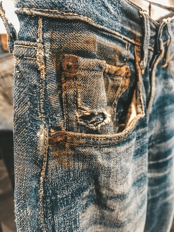 A rare vintage jeans piece from M.O.D.E. (Museum of Denim Elleti Group) inaugurated in July 2019