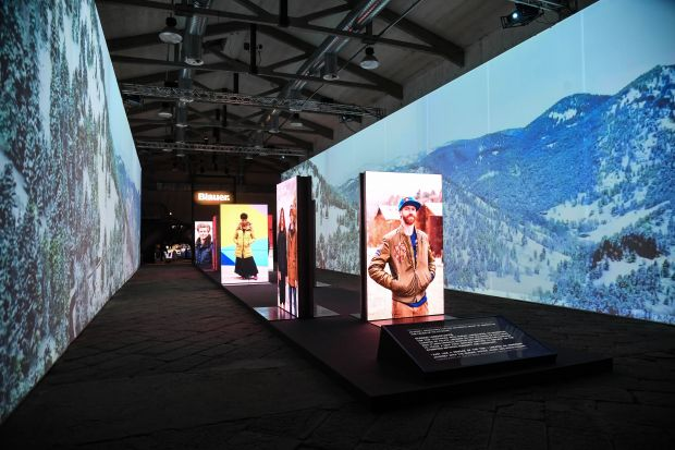 Blauer Human landscapes exhibit in Florence